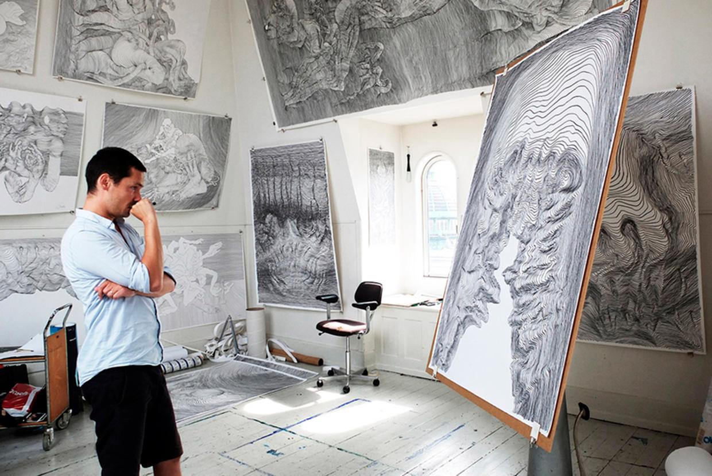 carl krull valgfag tegning Johan Borups