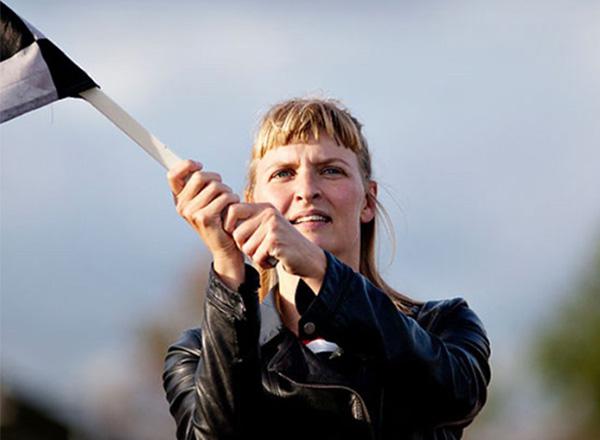 Inge Agnete Tarpgaard, performancekunstner. Foto: Astrid Dalum johan borups højskole