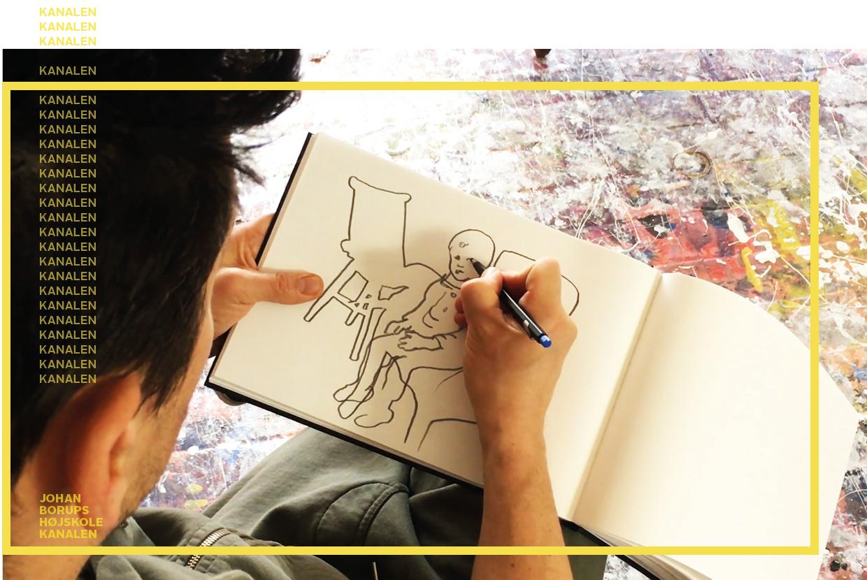 Carl Krull tegner kunstner Johan Borups Højskole lær at tegne